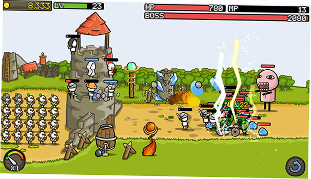 Grow Castle android turret defense